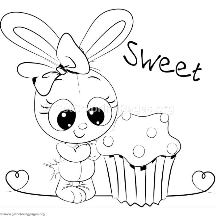 Cute Rabbit 2 Coloring Pages - GetColoringPages.org