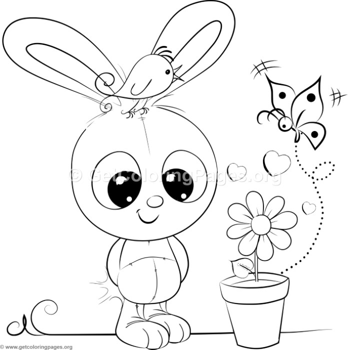 Cute Rabbit 4 Coloring Pages – GetColoringPages.org