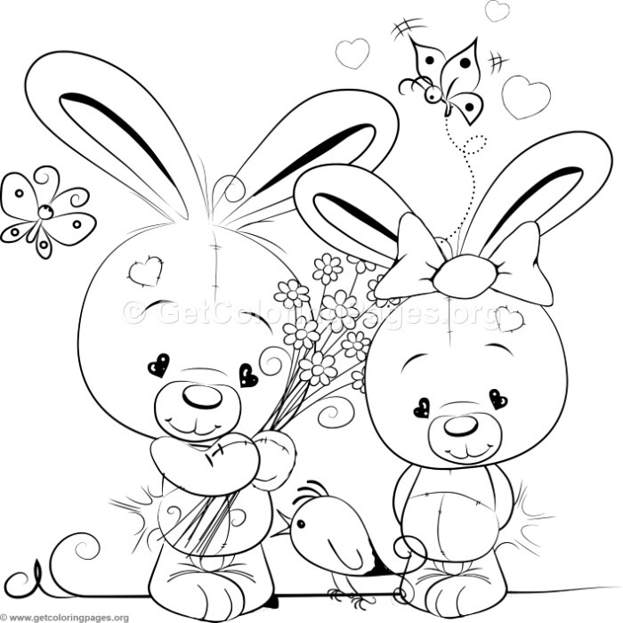 Cute Rabbit 6 Coloring Pages – GetColoringPages.org