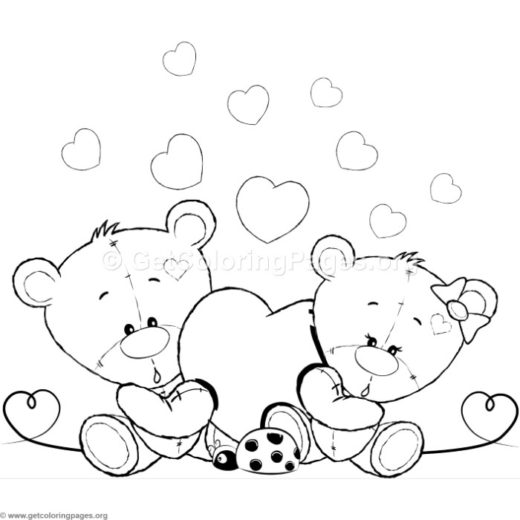 Cute Teddy Bear 49 Coloring Pages