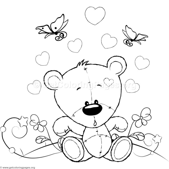 Cute Teddy Bear 51 Coloring Pages
