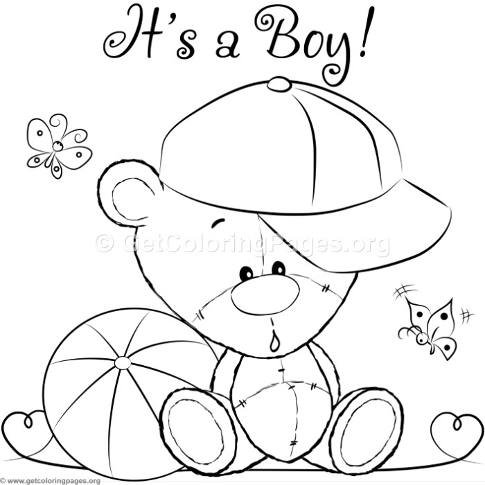 Cute Teddy Bears 42 Coloring Pages