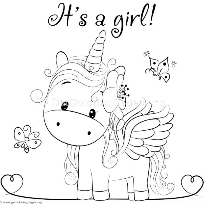 Cute Unicorn 1 Coloring Pages – GetColoringPages.org