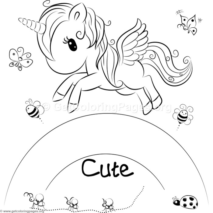 cute unicorn color by number coloring pages