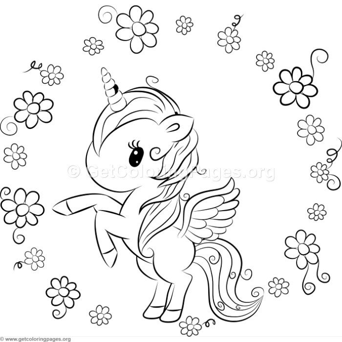 Cute Unicorn 9 Coloring Pages
