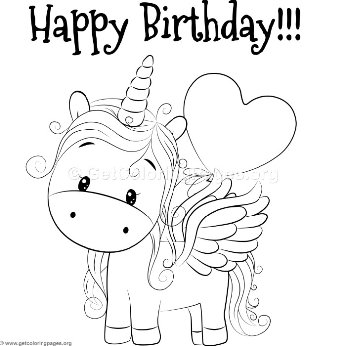 Free Printable Birthday Card Unicorn