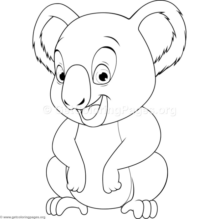 Baby Koala Coloring Pages GetColoringPages