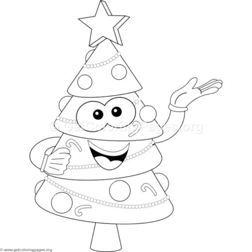 Christmas Tree Presenting Coloring Pages