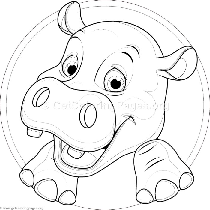 Cute baby hippo coloring pages for Baby hippo coloring pages