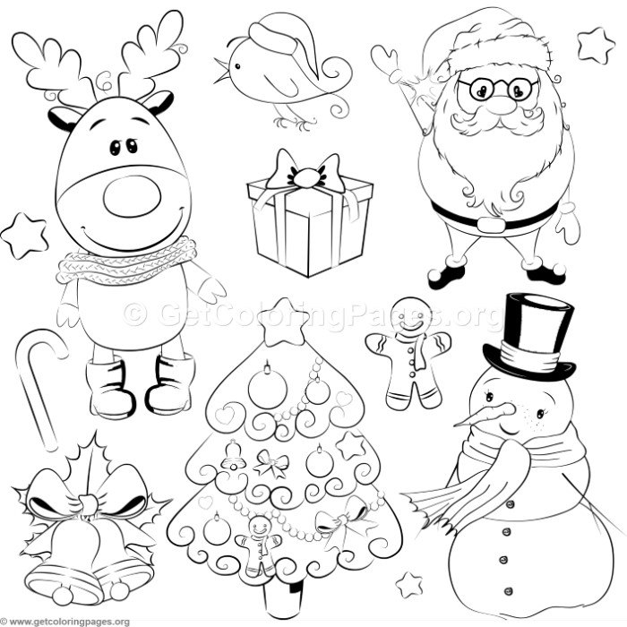 cartoon characters christmas coloring pages - photo#24