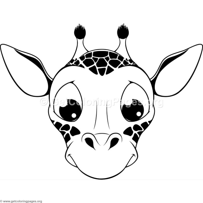 Cute Giraffe Head Coloring Pages