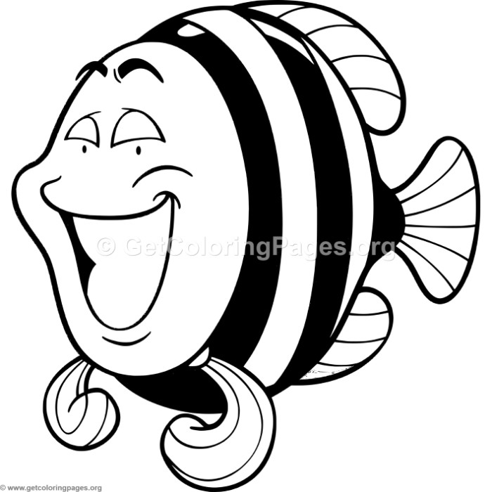 Cute Little Fish 3 Coloring Pages