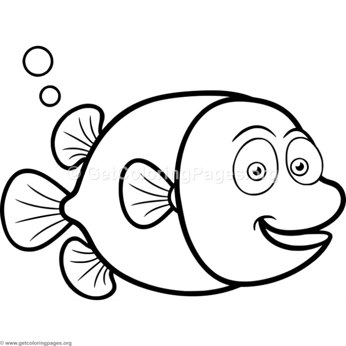Cute Little Fish Coloring Pages