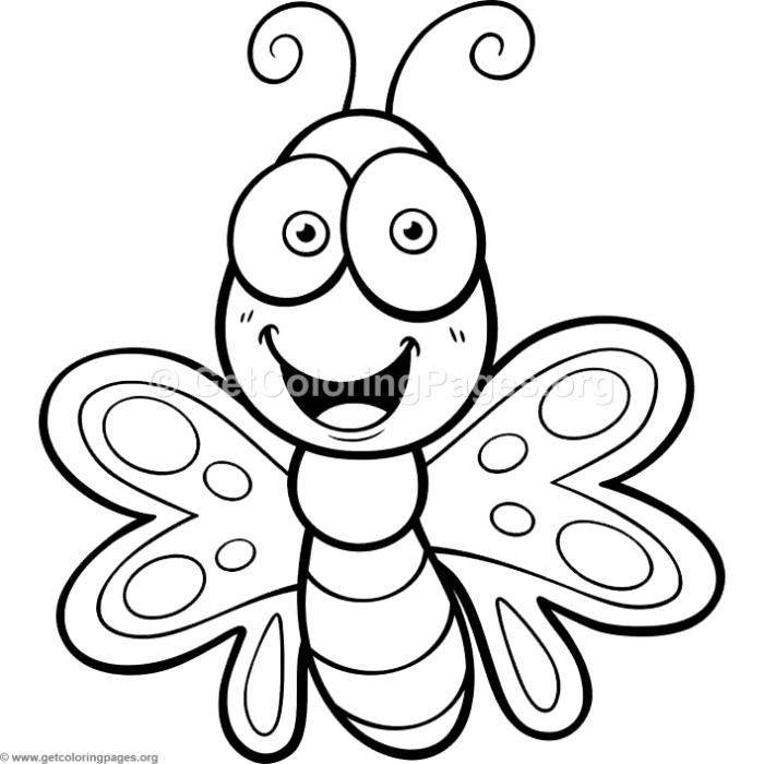cute small butterfly coloring pages