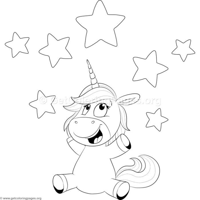 Cute Unicorn 19 Coloring Pages – GetColoringPages.org