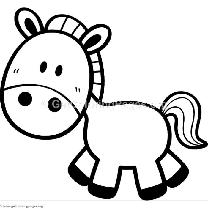 Little Cute Cartoon Horse Coloring Pages ...