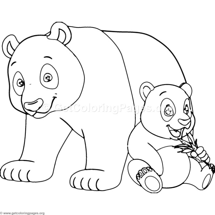 Panda mother baby coloring pages ~ Mother Panda and Baby Coloring Pages – GetColoringPages.org