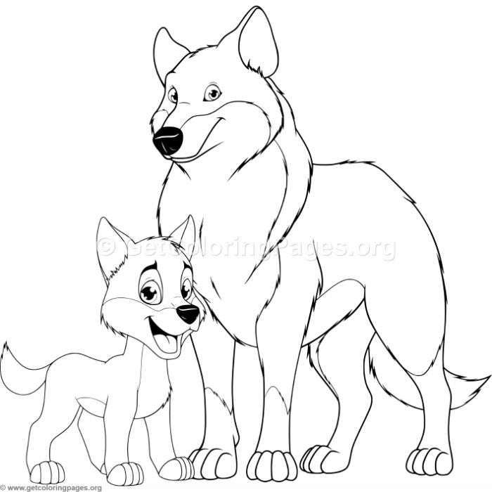 Mother tiger and cub coloring pages for Wolf cub coloring pages