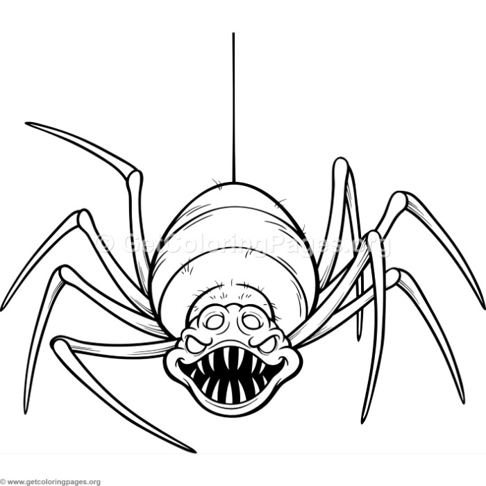 Superb Scary Spider Coloring Pages
