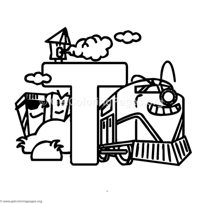 alphabet characters letter t coloring pages - Letter T Coloring Pages