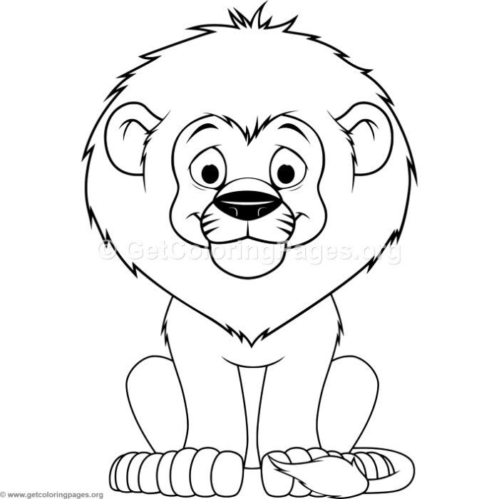 cartoon baby lion coloring pages