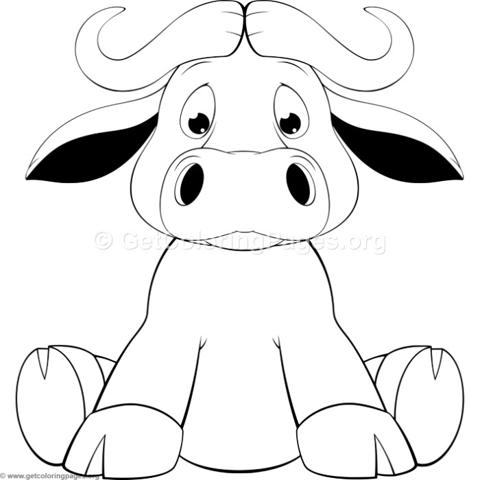 Cartoon Calf Coloring Pages GetColoringPages