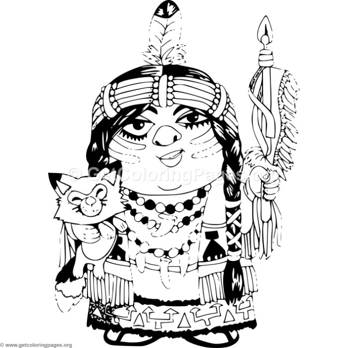 Cartoon Native Indian Girl Coloring Pages – GetColoringPages.org