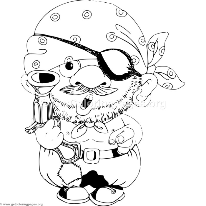 cartoon pirate with gun coloring pages - Gun Coloring Pages