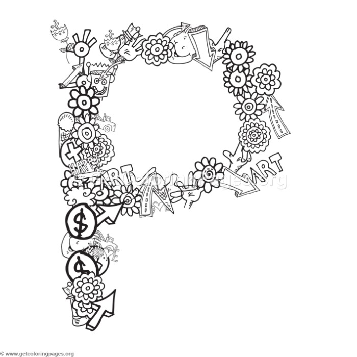 Doodle Alphabet Letter P Coloring Pages – GetColoringPages.org