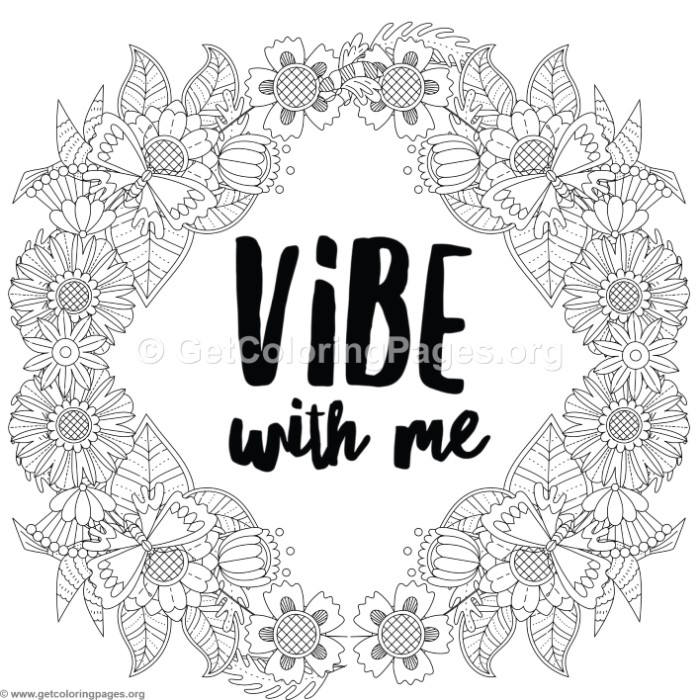 good vibes 2 coloring pages � getcoloringpagesorg