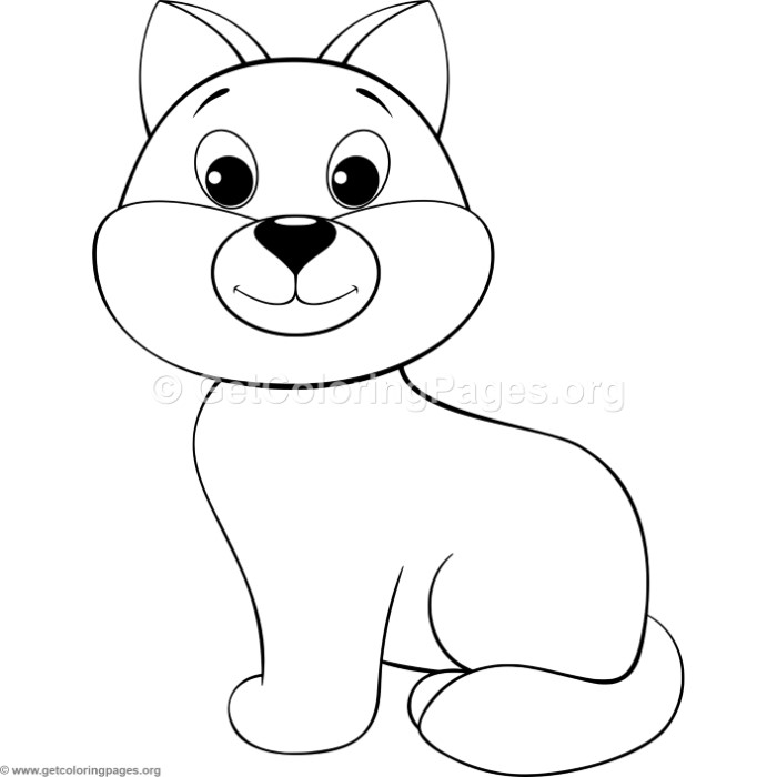 simple cartoon dog coloring pages getcoloringpages org