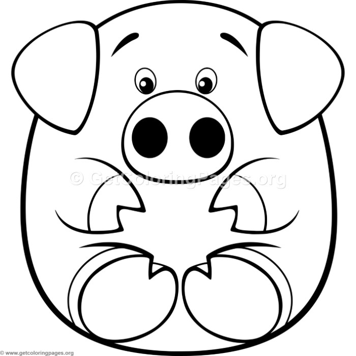Simple Cartoon Pig Coloring Pages – GetColoringPages.org