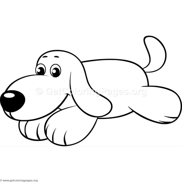 simple cute cartoon dog coloring pages getcoloringpages org