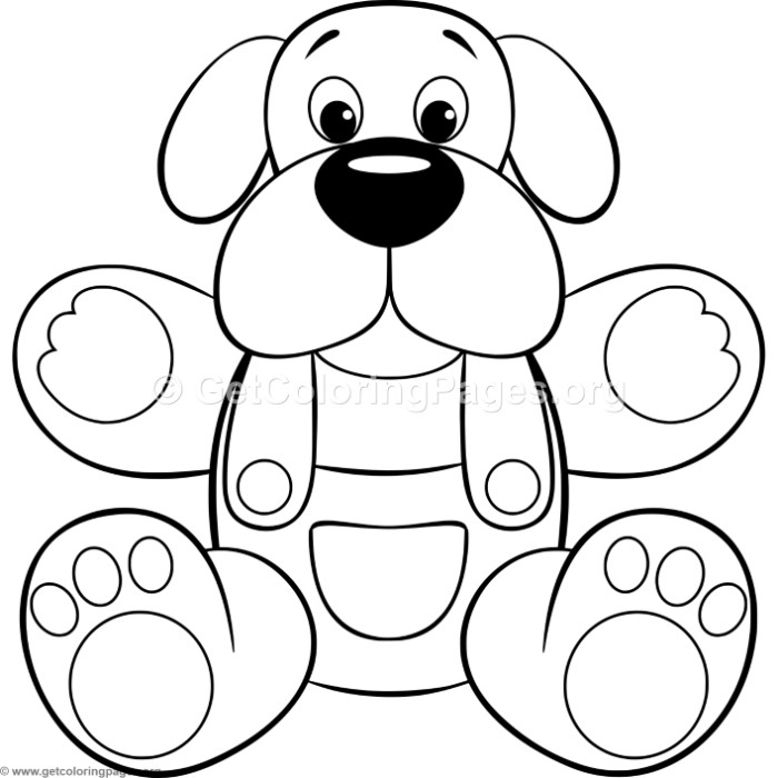 Simple Cute Cartoon Puppy Coloring Pages – GetColoringPages.org
