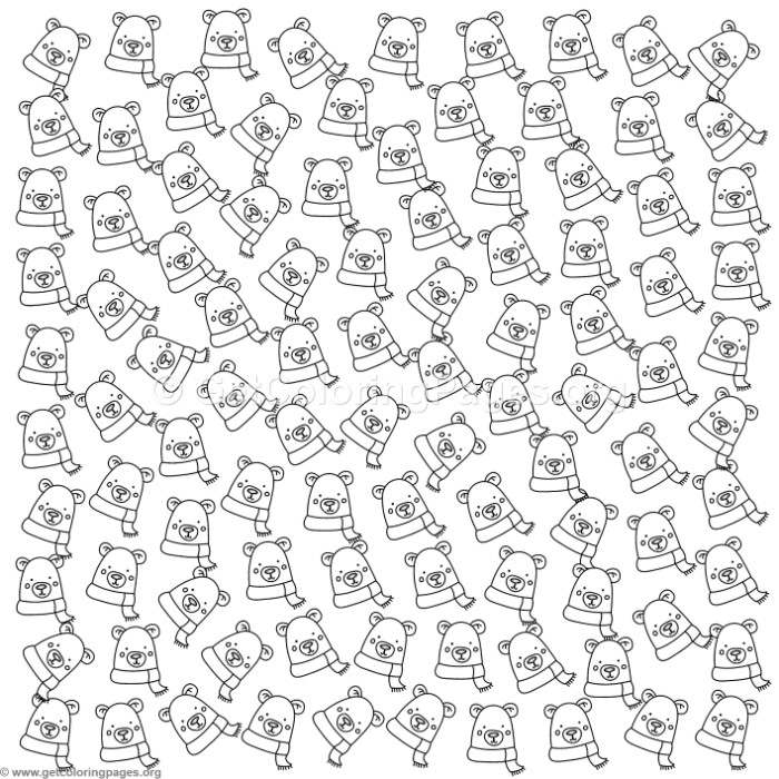Cute Polar Bear Pattern Coloring Pages Getcoloringpages Org