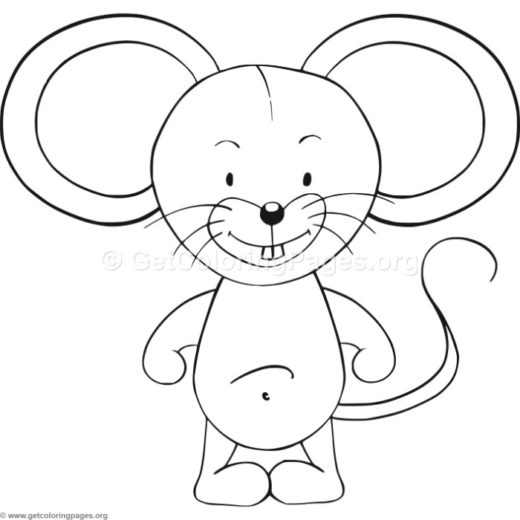 Easy Mouse Coloring Pages