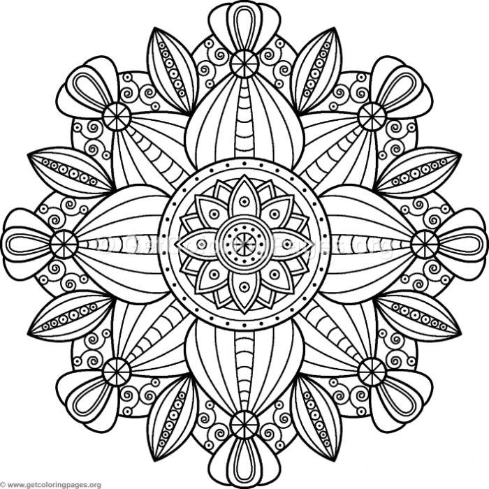 Flower Mandalas Pattern Coloring Pages