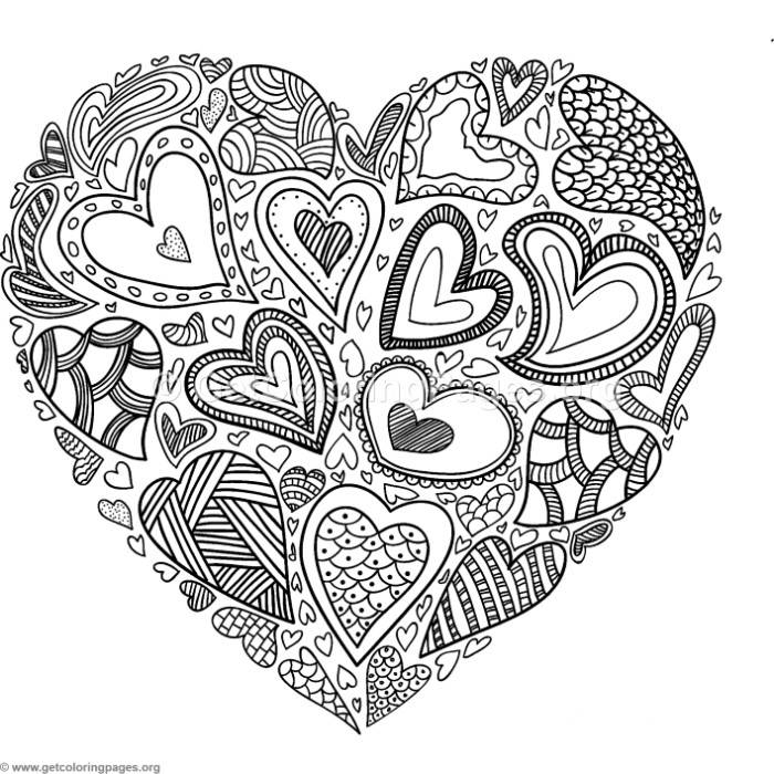 Heart Of Hearts Coloring Pages