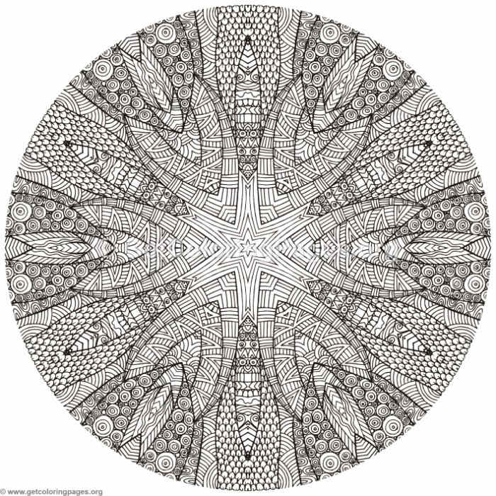 Mystic Mandala Coloring Pages Getcoloringpages Org