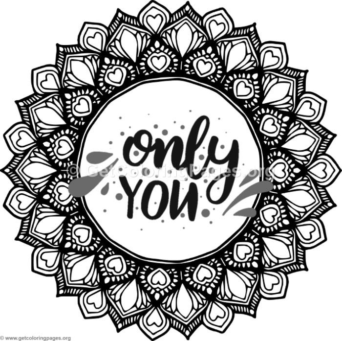Only You Hearts Mandala Coloring Pages – GetColoringPages.org