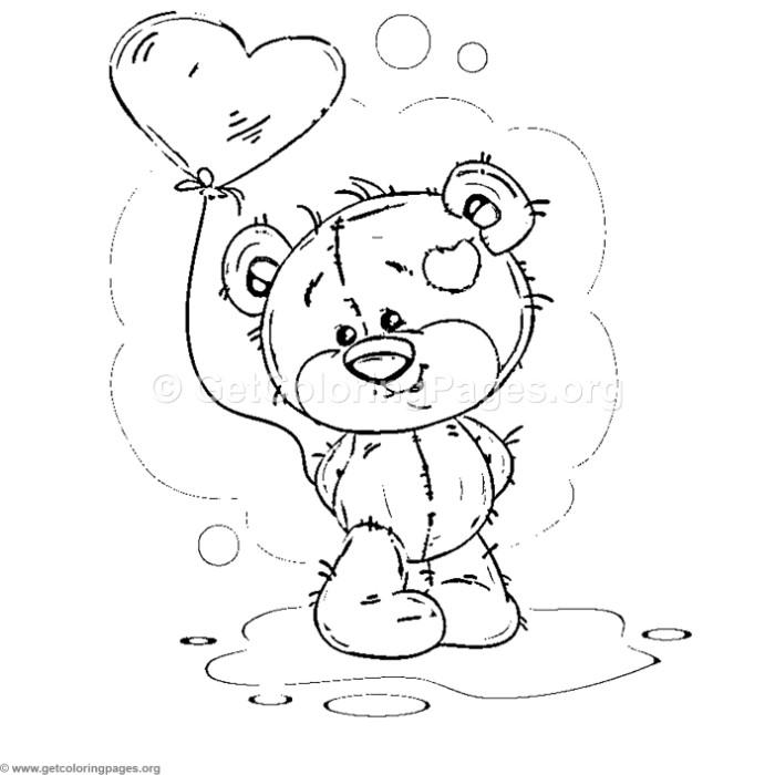 Teddy Bear Love Collection 7 Coloring Pages