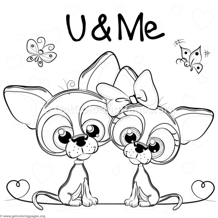 You and Me Cute Dogs Coloring Pages - GetColoringPages.org
