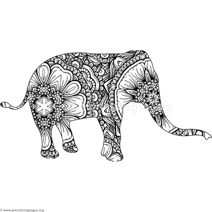 Free zentangle elephant coloring pages ~ Zentangle Animal Elephant Coloring Pages ...
