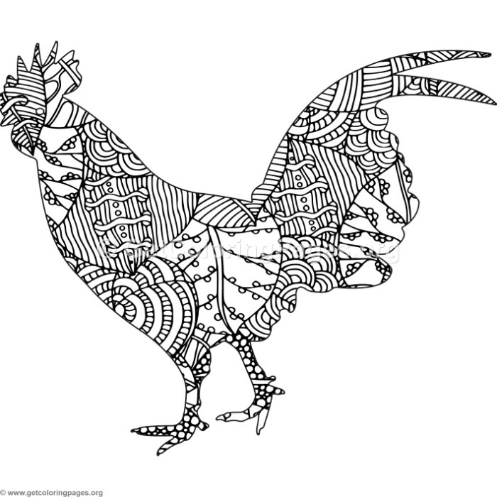 Zentangle Chicken Coloring Pages Getcoloringpages Org