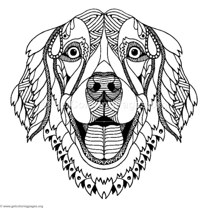 Zentangle Dog Coloring Pages GetColoringPages