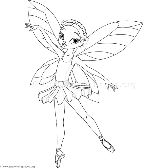 Ballerina Fairy Coloring Pages GetColoringPages