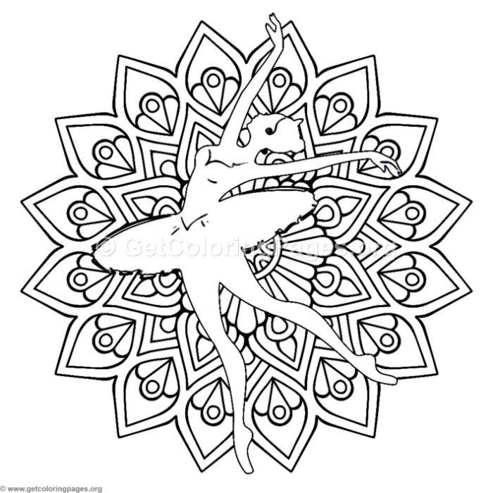 Ballet Dancer Mandala Coloring Pages GetColoringPages