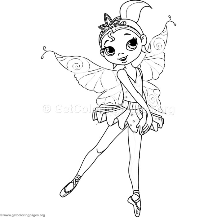 Ballet Fairy Coloring Pages Getcoloringpages Org