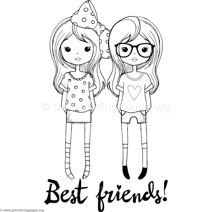 Best Friends Coloring Pages – GetColoringPages.org