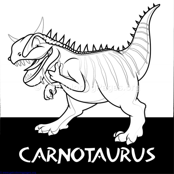 Carnotaurus Cute Dinosaurs Coloring Pages